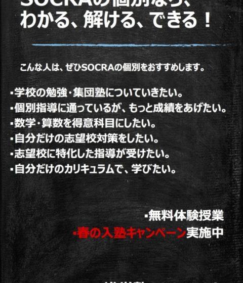 春の入塾キャンペーン実施中です!!